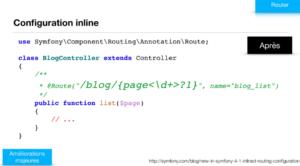 Configuration inline